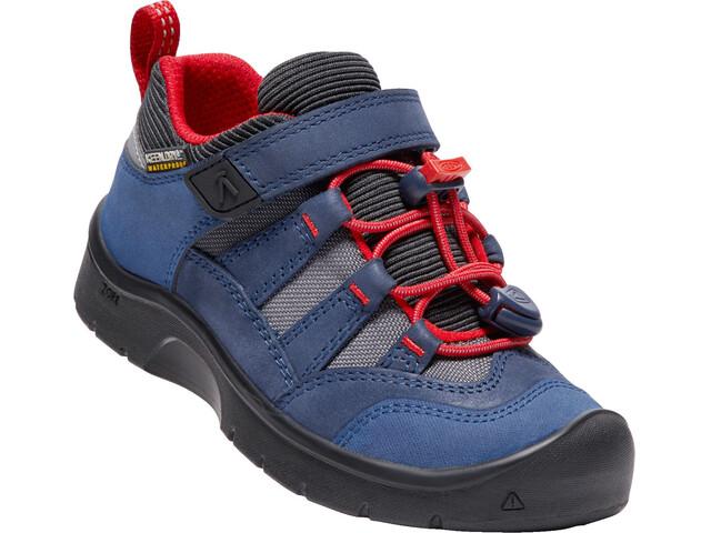 Keen Hikeport WP Shoes Children dress blues/firey red